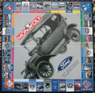 Game Car Game >> Monopoly Ford 100th Anniversary Edition